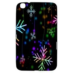 Nowflakes Snow Winter Christmas Samsung Galaxy Tab 3 (8 ) T3100 Hardshell Case  by Nexatart