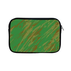 Brown Green Texture                                                 			apple Ipad Mini Zipper Case by LalyLauraFLM
