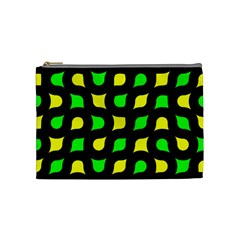 Yellow Green Shapes                                                     Cosmetic Bag by LalyLauraFLM