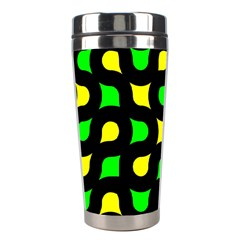 Yellow Green Shapes                                                     Stainless Steel Travel Tumbler by LalyLauraFLM