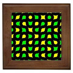 Yellow Green Shapes                                                     			framed Tile