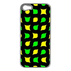 Yellow Green Shapes                                                    			apple Iphone 5 Case (silver) by LalyLauraFLM