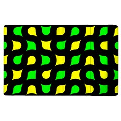 Yellow Green Shapes                                                    			apple Ipad 3/4 Flip Case by LalyLauraFLM
