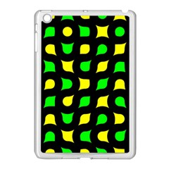 Yellow Green Shapes                                                    			apple Ipad Mini Case (white) by LalyLauraFLM