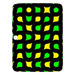 Yellow Green Shapes                                                    			samsung Galaxy Tab 3 (10 1 ) P5200 Hardshell Case by LalyLauraFLM
