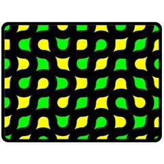 Yellow Green Shapes                                                    Fleece Blanket by LalyLauraFLM