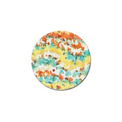Retro Watercolors                                                      			golf Ball Marker (4 Pack) by LalyLauraFLM