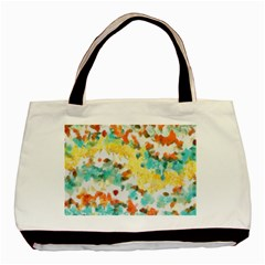 Retro Watercolors                                                      			basic Tote Bag by LalyLauraFLM