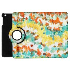 Retro Watercolors                                                     			apple Ipad Mini Flip 360 Case by LalyLauraFLM