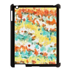Retro Watercolors                                                     			apple Ipad 3/4 Case (black) by LalyLauraFLM