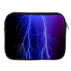 Lightning Electricity Elements Danger Night Lines Patterns Ultra Apple Ipad 2/3/4 Zipper Cases