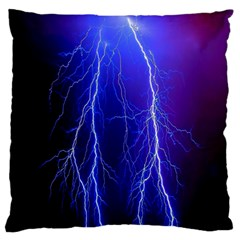 Lightning Electricity Elements Danger Night Lines Patterns Ultra Standard Flano Cushion Case (one Side) by Jojostore