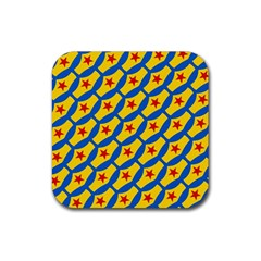 Images Album Heart Frame Star Yellow Blue Red Rubber Square Coaster (4 Pack)  by Jojostore