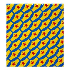 Images Album Heart Frame Star Yellow Blue Red Shower Curtain 66  X 72  (large)  by Jojostore