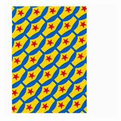 Images Album Heart Frame Star Yellow Blue Red Large Garden Flag (two Sides) by Jojostore