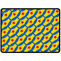 Images Album Heart Frame Star Yellow Blue Red Double Sided Fleece Blanket (large)  by Jojostore