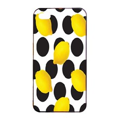 Orange Lime Fruit Yellow Hole Apple Iphone 4/4s Seamless Case (black) by Jojostore