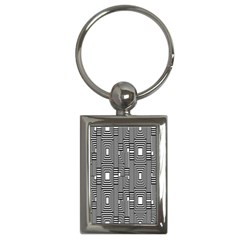 Line Hole Plaid Pattern Key Chains (rectangle)