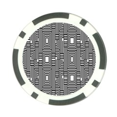 Line Hole Plaid Pattern Poker Chip Card Guard