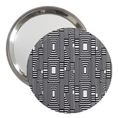 Line Hole Plaid Pattern 3  Handbag Mirrors