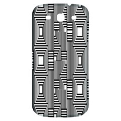 Line Hole Plaid Pattern Samsung Galaxy S3 S Iii Classic Hardshell Back Case