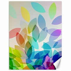 Leaf Rainbow Color Canvas 18  X 24   by Jojostore