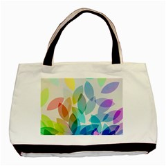 Leaf Rainbow Color Basic Tote Bag (two Sides)