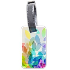 Leaf Rainbow Color Luggage Tags (two Sides)