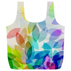 Leaf Rainbow Color Full Print Recycle Bags (l)  by Jojostore