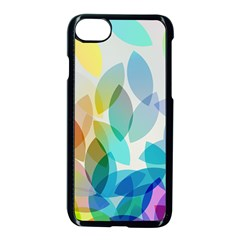 Leaf Rainbow Color Apple Iphone 7 Seamless Case (black)