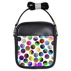 Ying Yang Seamless Color Cina Girls Sling Bags