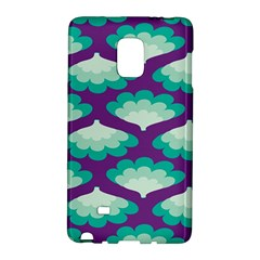Purple Flower Fan Galaxy Note Edge by Jojostore