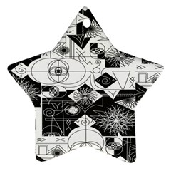 Point Line Plane Themed Original Design Star Ornament (two Sides) by Jojostore