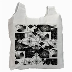 Point Line Plane Themed Original Design Recycle Bag (one Side) by Jojostore