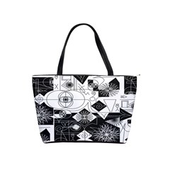 Point Line Plane Themed Original Design Shoulder Handbags
