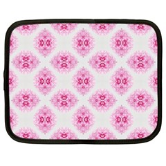 Peony Photo Repeat Floral Flower Rose Pink Netbook Case (large) by Jojostore