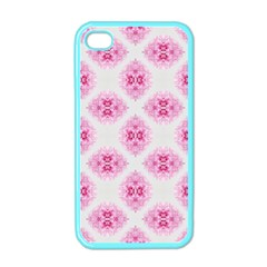 Peony Photo Repeat Floral Flower Rose Pink Apple Iphone 4 Case (color) by Jojostore