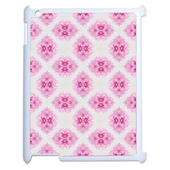 Peony Photo Repeat Floral Flower Rose Pink Apple Ipad 2 Case (white) by Jojostore