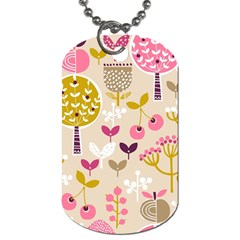 Retro Fruit Leaf Tree Orchard Dog Tag (one Side) by Jojostore