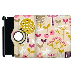 Retro Fruit Leaf Tree Orchard Apple Ipad 3/4 Flip 360 Case