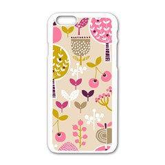 Retro Fruit Leaf Tree Orchard Apple Iphone 6/6s White Enamel Case