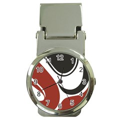 Red Black Money Clip Watches