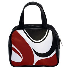 Red Black Classic Handbags (2 Sides)