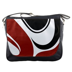 Red Black Messenger Bags