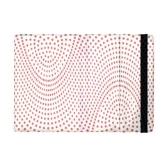 Red Circle Apple Ipad Mini Flip Case by Jojostore