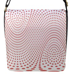 Red Circle Flap Messenger Bag (s) by Jojostore