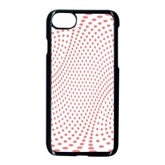 Red Circle Apple Iphone 7 Seamless Case (black) by Jojostore