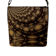 Rocks Metal Fractal Pattern Flap Messenger Bag (l)  by Jojostore