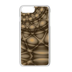 Rocks Metal Fractal Pattern Apple Iphone 7 Plus White Seamless Case by Jojostore