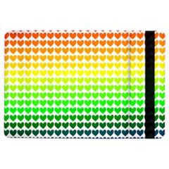 Rainbow Love Heart Valentine Orange Yellow Green Blue Ipad Air 2 Flip